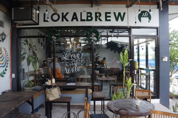 The facade of Lokal Brew Cafe