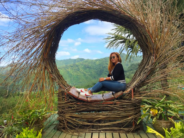 Neri's Ville Selfie Corner version of Bali's Nest of Wanagiri